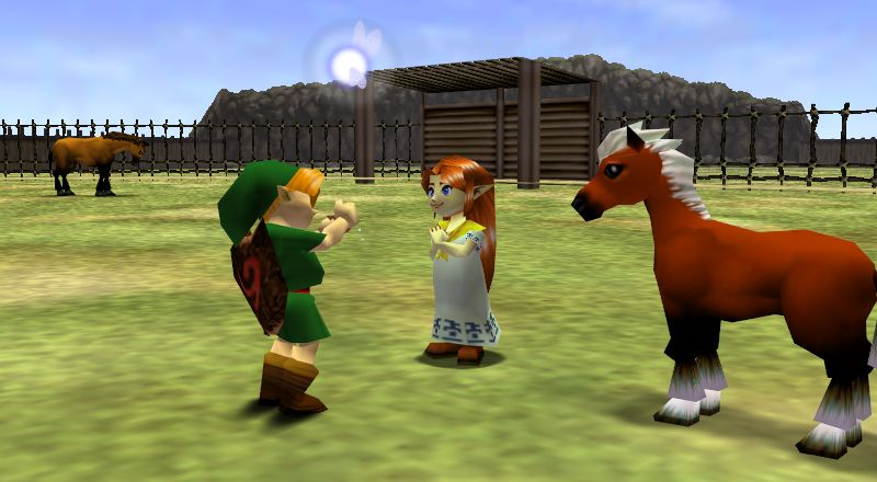 Link with his horse, Epona