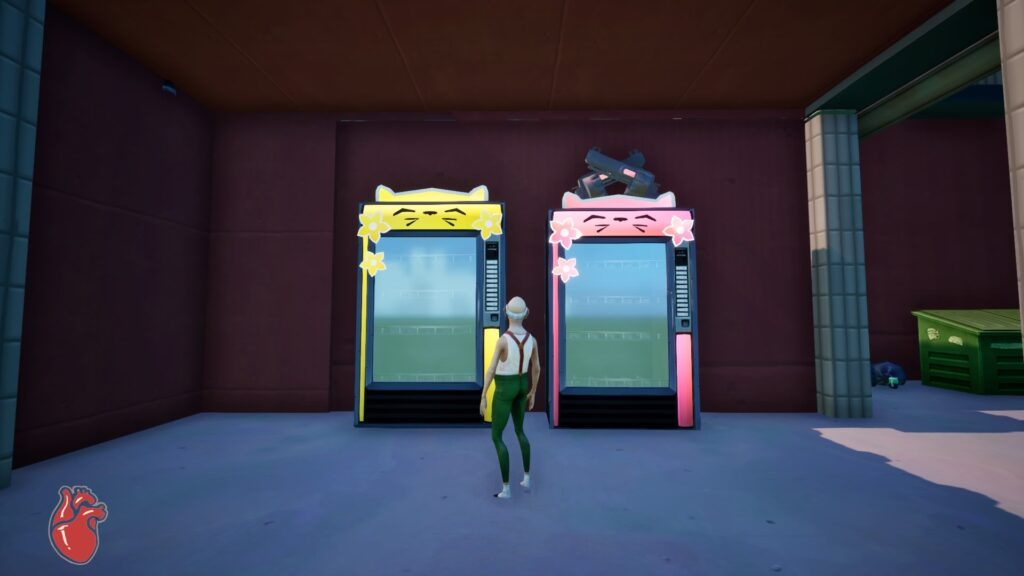 Earn tickets to buy items from vending machines