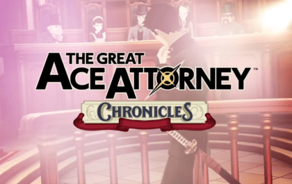 Ace Attorney Chronicles in text with a court background